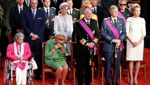 Королевская семья Бельгии участвует в богослужении