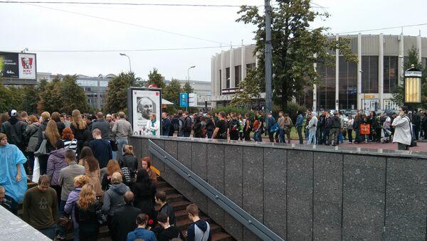 Гражданская панихида по лидеру группы Король и Шут Михаилу Горшеневу в Петербурге