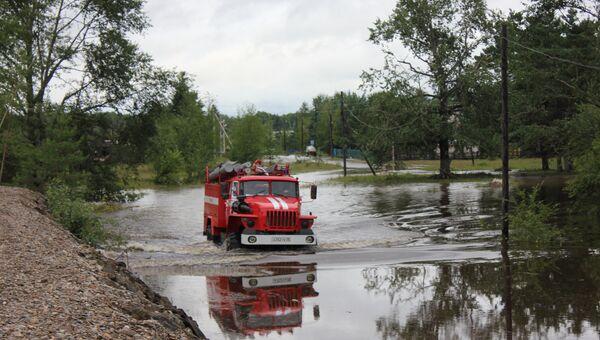 Паводок в Ивановке в Амурской области