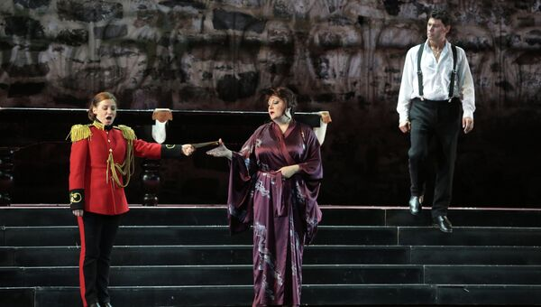 Показ спектакля Бал-маскарад в рамках Оперного фестиваля в Савонлинне