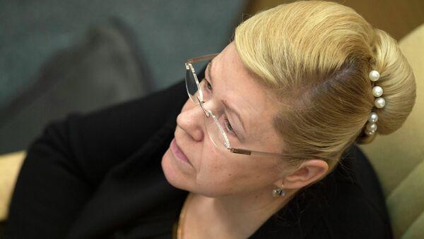 Председатель комитета ГД по вопросам семьи, женщин и детей Елена Мизулина на пленарном заседании Государственной Думы РФ. Архивное фото