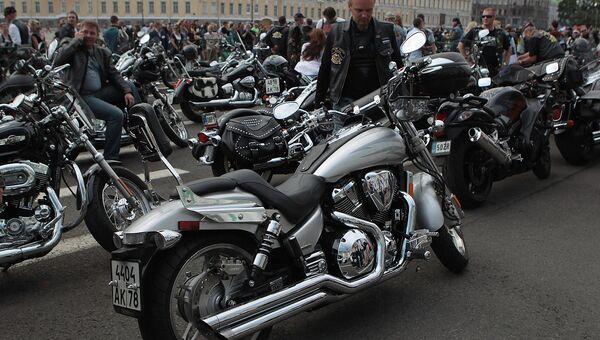 Мотоциклы Harley-Davidson. Архивное фото