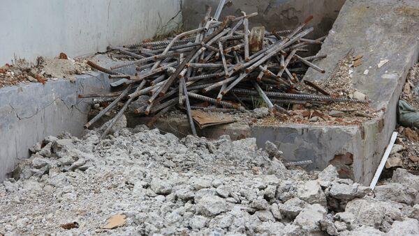 Строительный мусор на объекте в Томске
