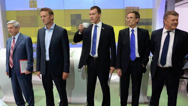 Дебаты между кандидатами в мэры Москвы