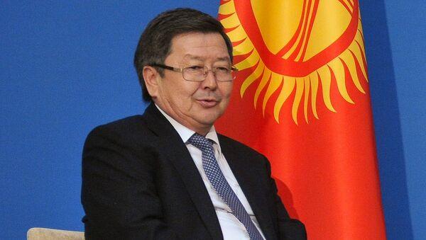 Премьер-министр Киргизии Жанторо Сатыбалдиев