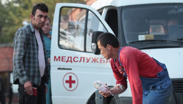 Отравившиеся на стройплощадке в Пулково доставлены в больницу