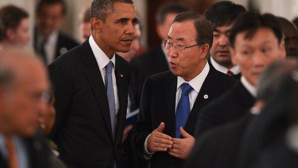 Пан Ги Мун на рабочем обеде участников саммита Группы двадцати