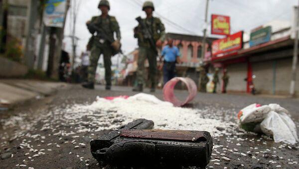 Столкновения между правительственными войсками и мусульманскими повстанцами на Филиппинах, архивное фото