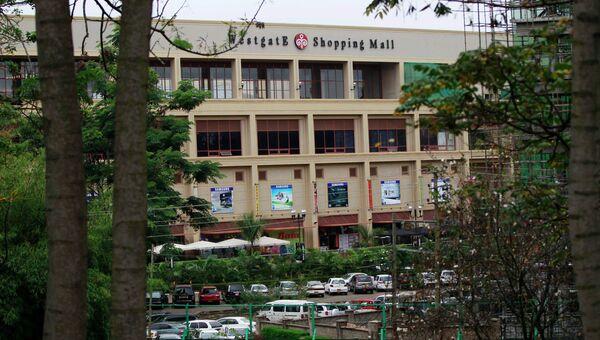 Здание торгового центра в Найроби, где захватили заложников