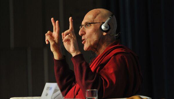 Лекция буддийского монаха и ученого Барри Керзина, фото с места события