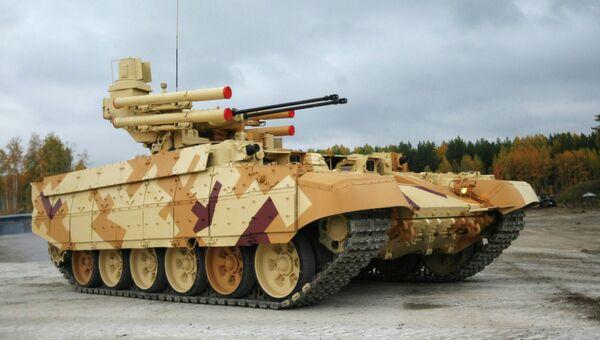 Боевая машина огневой поддержки танков Терминатор на IX Международной выставке вооружения, военной техники и боеприпасов в Нижнем Тагиле. Архивное фото