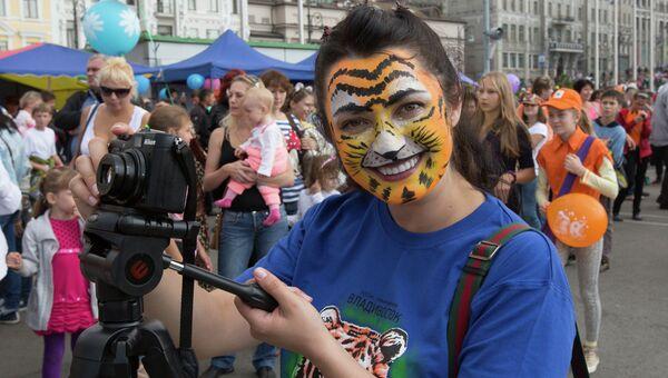 День тигра во Владивостоке 29 сентября 2013 года