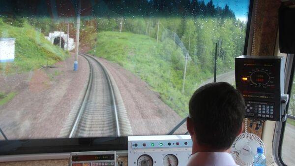 Поезд на Красноярской железной дороге