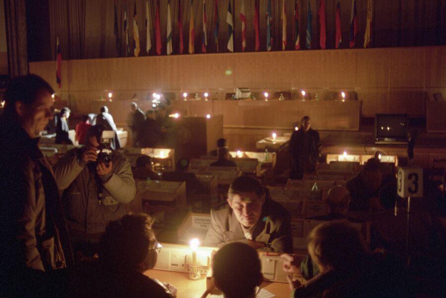 Съезд при свечах