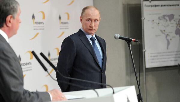 Владимир Путин на территории Туапсинского НПЗ Роснефти. Фото с места события