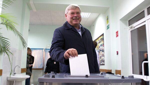Губернатор Томской области Сергей Жвачкин на выборах мэра Томска