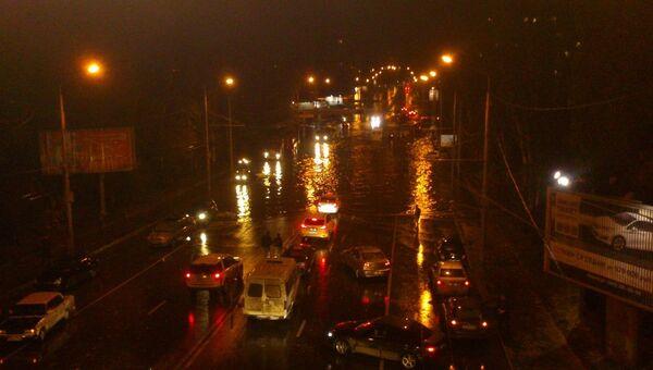 Затопленные после ливня улицы Ростова-на-Дону. Фото с места события