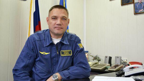 Командир 344-го Центра боевой подготовки и переучивания лётного состава армейской авиации полковник Андрей Попов