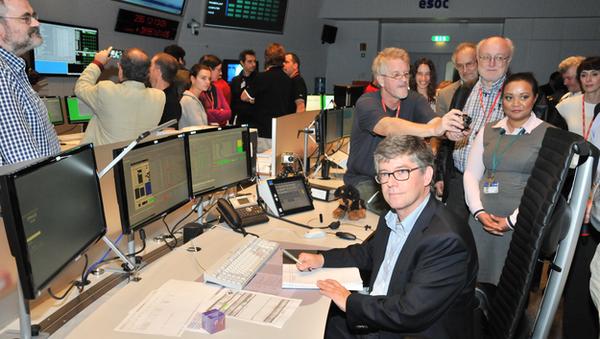 Научный руководитель проекта Ян Таубер отправил последнюю команду на борт Планка