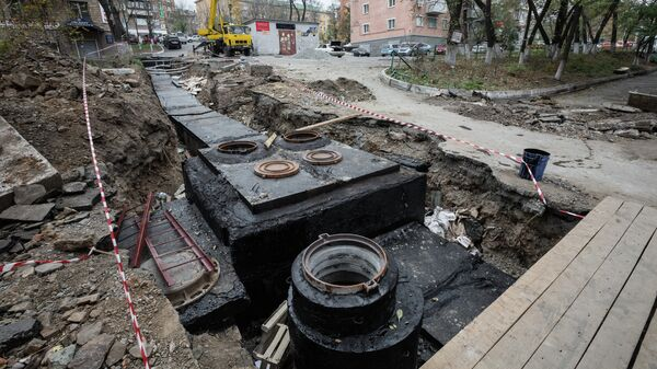 Ремонт теплотрасс на улицах Владивостока