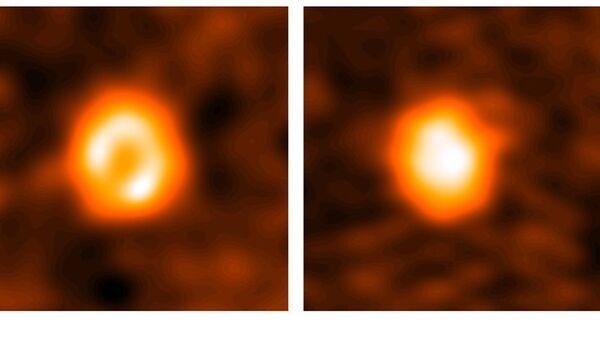 Изображения диска вокруг звезды HD 21997, полученные с помощью телескопа ALM