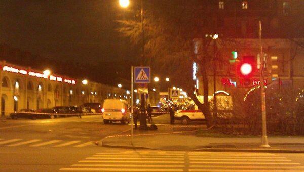 Перекрытие движения на Васильевском острове, фото с места событий