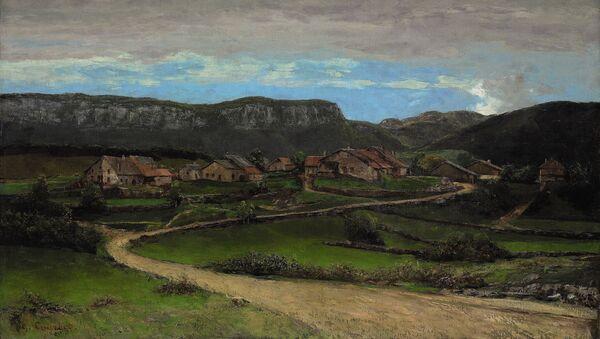 Гюстав Курбе. Пейзаж близ Орнана