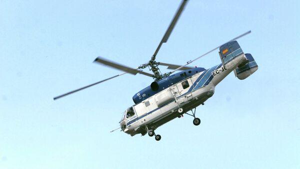 Вертолет Ка-32, применяемый при тушении пожаров. Архивное фото