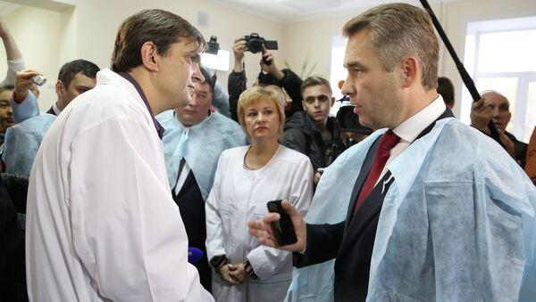Павел Астахов в самарской больнице имени Семашко