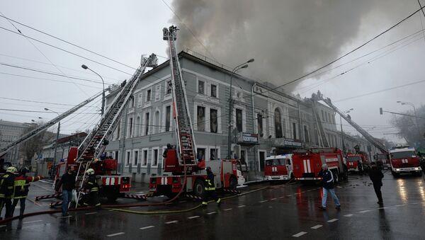 Пожар в театре Школа современной пьесы, архивное фото