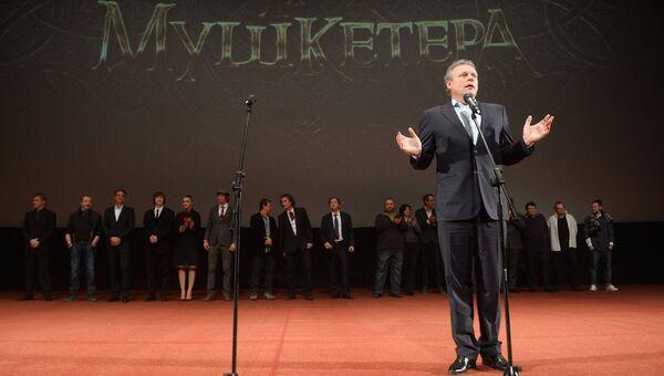 Актер, режиссер Сергей Жигунов на премьере своего фильма Три мушкетера