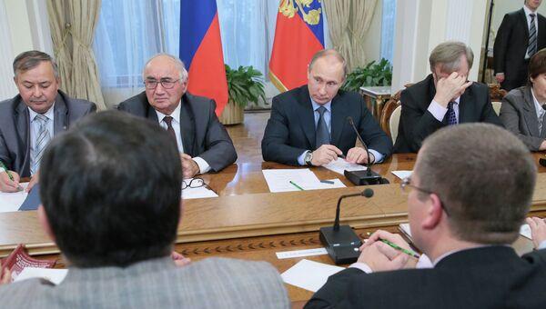 В.Путин встретился с заведующими кафедрами конституционно-правовых дисциплин