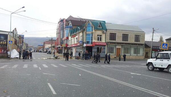Взрыв в магазине в Махачкале