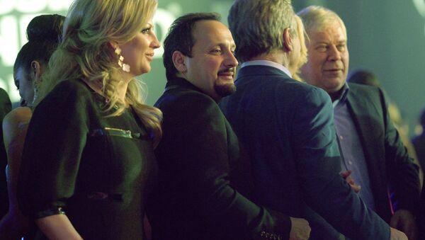 Певец Стас Михайлов с супругой Инной на вечеринке после финала конкурса Мисс Вселенная 2013