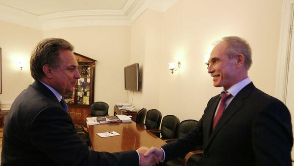 Губернатор Ульяновской области Сергеем Морозов и министр спорта РФ Виталий Мутко
