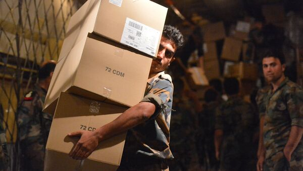 Гуманитарная помощь для Сирии. Архивное фото