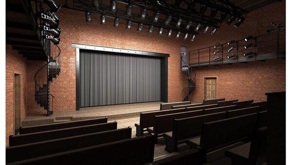Перспектива малого зала Псковского академического драматического театра имени А.С. Пушкина