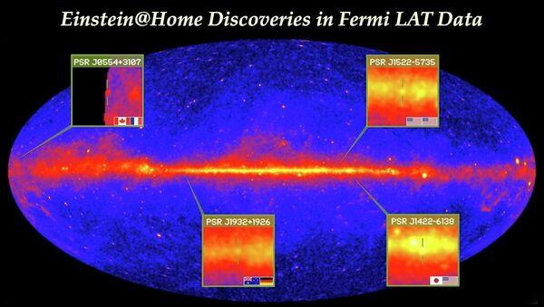 Гамма-пульсары, обнаруженные участниками проекта Einstein@Home