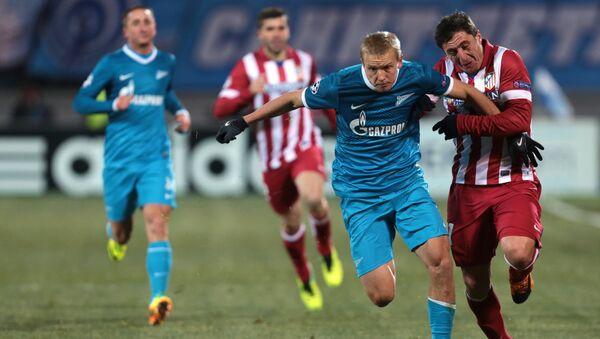 Игровой момент матча Зенит - Атлетико