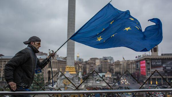 Акция в поддержку евроинтеграции Украины на площади Независимости в Киеве, архивное фото