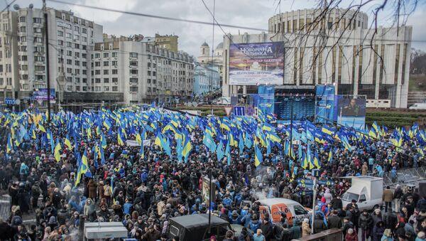 Митинг сторонников Партии регионов на Европейской площади в Киеве