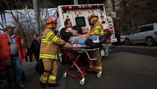 Пострадавший во время крушения поезда в Нью-Йорке
