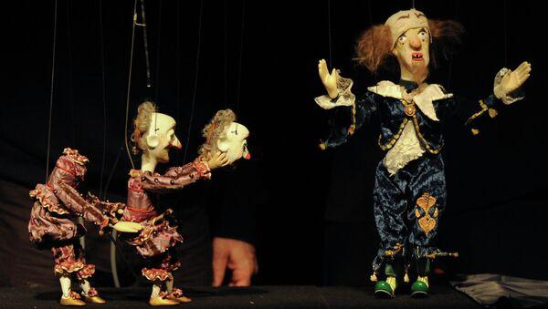 Сцена из спектакля Рамона Тбилисского театра марионеток Резо Габриадзе
