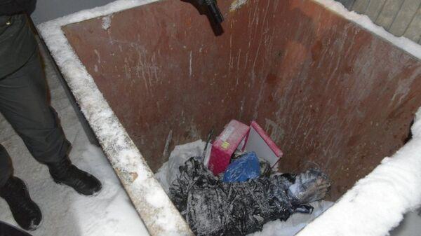 Мусорный бак в Костроме, где нашли расчлененное тело, фото с места события