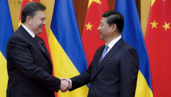 Встреча Виктора Януковича и Си Цзиньпина