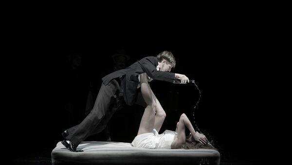 Сцена из спектакля Москва-Петушки. Архивное фото