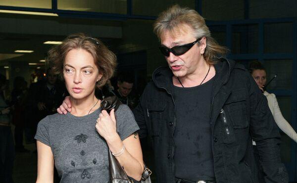 Лидер группы Алиса Константин Кинчев с супругой