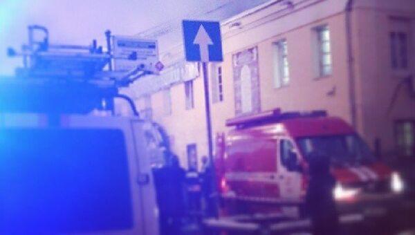 Пожар в Театре русской драмы в центре Москвы. Архивное фото