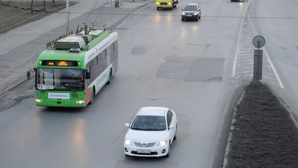 Улицы Красноярска, фото из архива