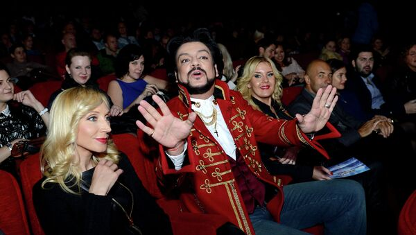 Певцы Кристина Орбакайте и Филипп Киркоров перед премьерой фильма Любовь в большом городе 3